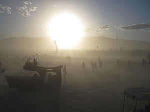 Dust Storm in Black Rock Desert, Nevada (USA).