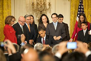 English: President Obama signs Executive Order...