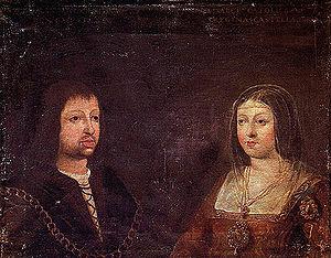 Wedding portrait of King Ferdinand II of Aragó...
