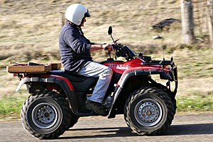 The ATV is commonly called a quad (bike) in Au...