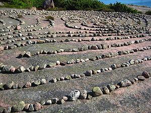 English: The labyrinth at the island of Blå Ju...