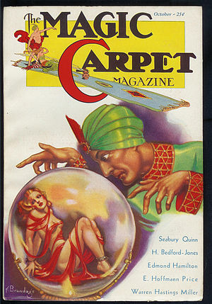 English: Cover of the pulp magazine Magic Carp...