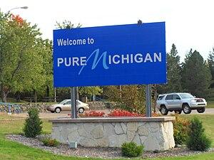 Michigan entrance sign