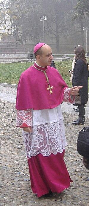 English: Archbishop Rino Fisichella in Lodi It...
