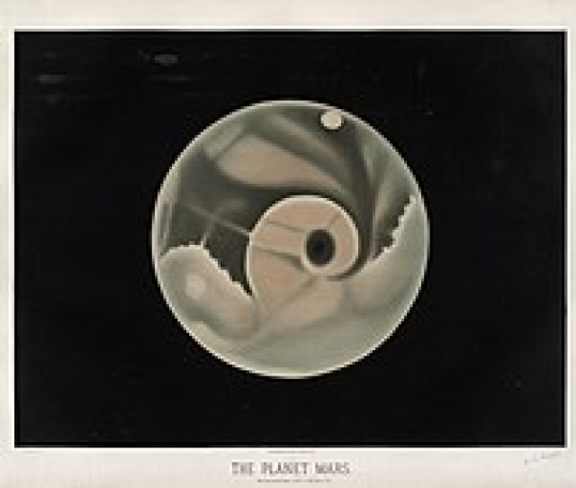 Dessin En Couleur De La Planete Mars Realise En 1877 Par Lastronome Francais Etienne Leopold Trouvelot