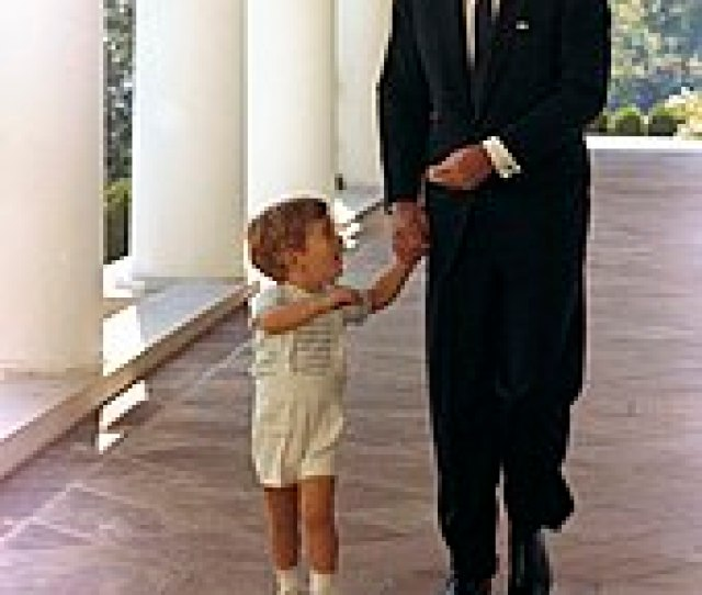 Jfk Jr With His Father At The White House At Age Two