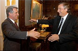 Uruguayan President Tabaré Vázquez with Argentine President Néstor Kirchner
