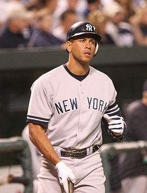 Alex Rodriguez prepares to bat in a game on Se...