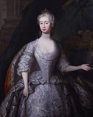 Augusta of Saxe-Gotha, Princess of Wales, oil ...