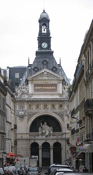 The BNP Paribas building in Paris, as seen fro...