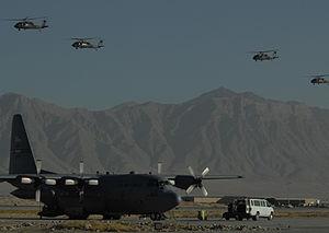 Keeping supplies moving - Army UH-60 Blackhawk...