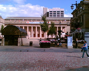 This photo shows the pedestrianised Square in ...