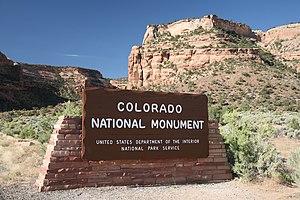 Fruita entrance of the Colorado National Monument