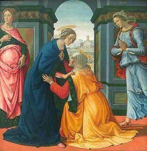 La Visitation par Domenico Ghirlandaio