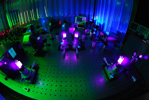 Femtosecond Laser and Pulse Compressor - Optics Lab - INRIM
