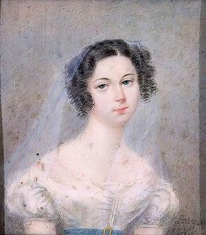 en: Portrait of Ewelina Hańska by Holz von Sow...
