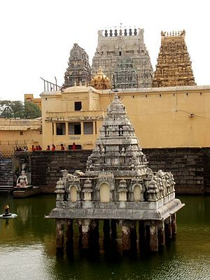 English: Some of the Gopurams of the Kanchi Ka...