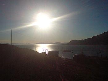 The midnight sun in Longyearbyen