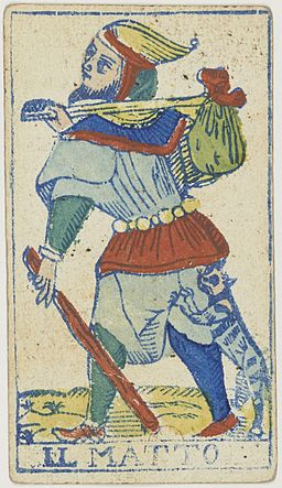 Piedmontese tarot deck - Solesio - 1865 - Trump - 00 - The Fool