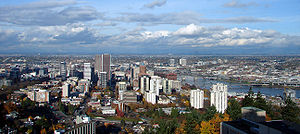 Portland's skyline from the South.