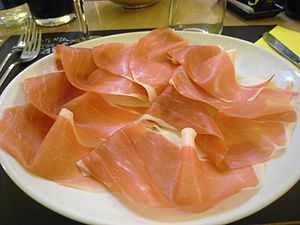 Prosciutto di Parma affettato