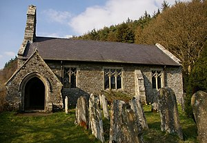 English: St Anno's Church, Llananno This churc...