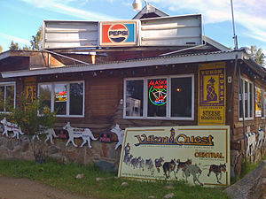 English: Steese Roadhouse in Central, Alaska, ...