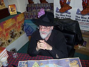 Terry Pratchett kindly posed with his hat for ...