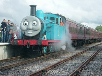 English: The during a Thomas the Tank Engine w...