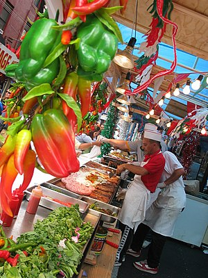Street vendors at the Feast of San Gennaro in ...