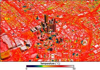 Image of Atlanta, Georgia, showing temperature...