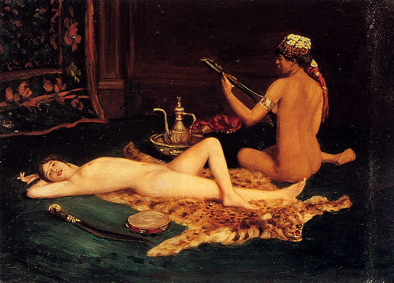 Harem, Odalisk, Odaslique, Odalisca, Harén, orientalismo, Orientalist, painting