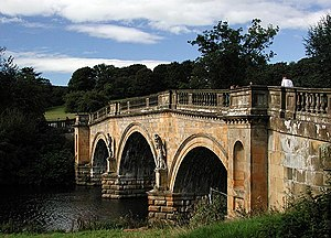 English: Chatsworth Bridge. The decorated and ...