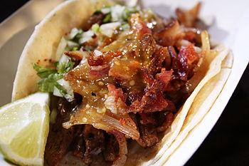 English: Don Chow Tacos Ultimate LA Taco
