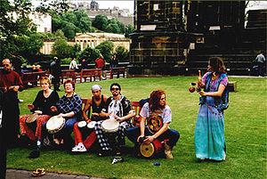 Playing the Drums, Scene at the Edinburgh Frin...