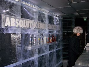 English: Absolut Ice Bar in Stockholm