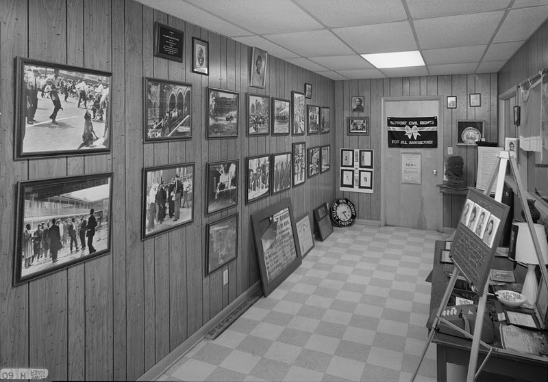 File:Interior view of the basement exhibition at the Sixteenth Street Baptist Church in Birmingham.jpg