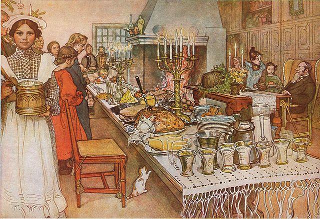 Julaftonen 1904 door Carl Larsson via Wikimedia Commons