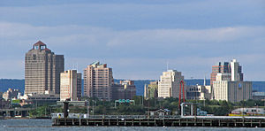 Downtown New Haven,CT Skyline from East Shore Park