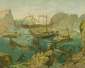 Odysseus bei den Laestrygonen