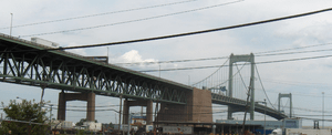 The Walt Whitman Bridge, opened in 1957, is a ...