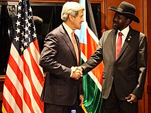U.S. Secretary of State John Kerry meets with President Kiir, May 26, 2013