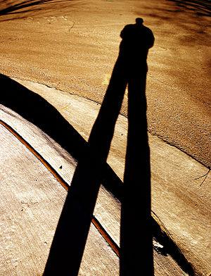 Shadow person (self-portrait).