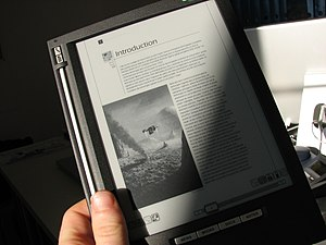 Light and shadow on an Irex iLiad ebook reader...