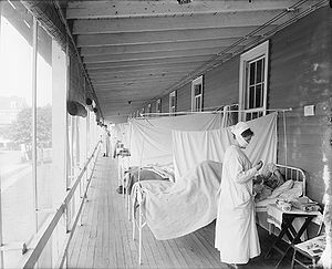 """Walter Reed Hospital Flu Ward"". Pho..."