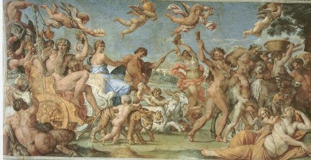The Triumph of Bacchus and Ariadne - Annibale Carracci - 1597 - Farnese Gallery, Rome