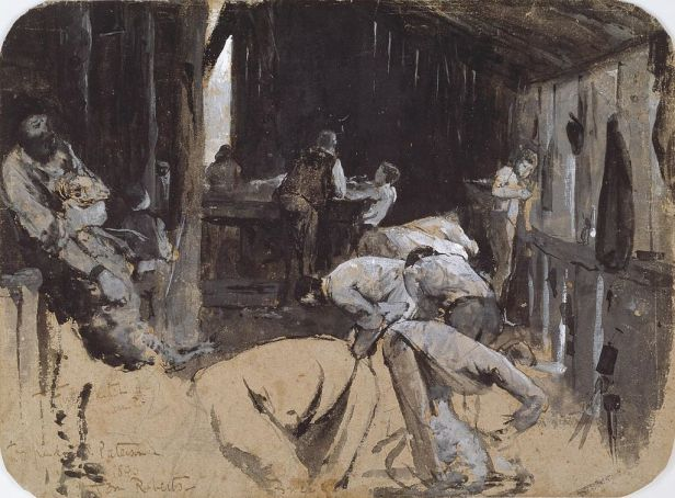 """Shearing the Rams"" by Tom Roberts"