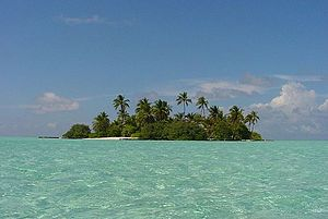 One of the many uninhabited islands of the Mal...