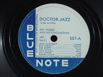 English: Art Hodes Docot Jazz - Blue Note records