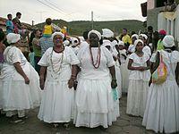 Baianas caracterizadas numa festa folclórica. Caetité, Bahia, 2007